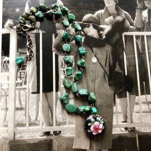 Beautiful vintage aventurine necklace ❤️😘